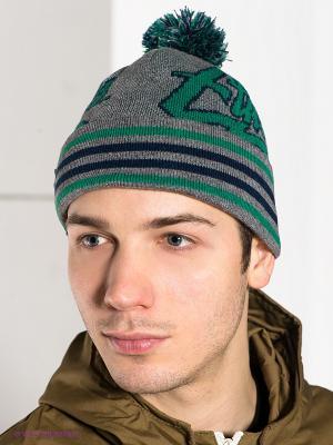 Шапка Etnies. Цвет: серый, синий, зеленый