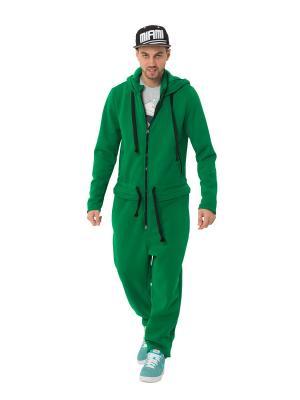 Комбинезон Bomboluk Happy Hood. Цвет: зеленый
