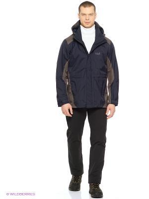 Куртка AMPLY TEXAPORE JKT W Jack Wolfskin. Цвет: темно-синий