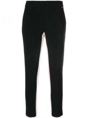 Укороченные брюки  с полосками по бокам Elisabetta Franchi. Цвет: чёрный