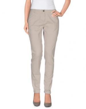 Повседневные брюки ETIQUETA NEGRA. Цвет: светло-серый