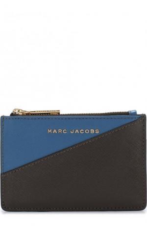 Кожаный футляр для кредитных карт Marc Jacobs. Цвет: синий