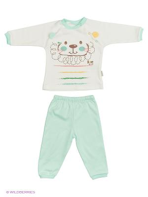 Костюм для малышей WO&GO. Цвет: молочный, морская волна