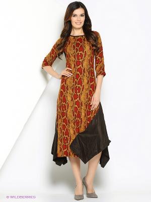 Платье МадаМ Т. Цвет: бордовый, светло-бежевый
