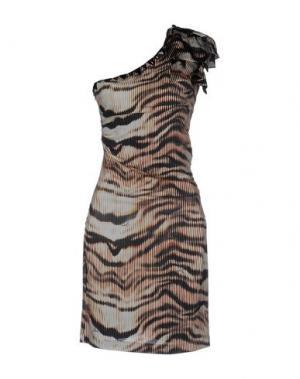 Короткое платье GIZIA. Цвет: слоновая кость