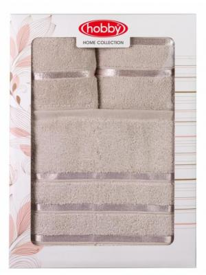 Махровое полотенце в коробке 30x50+50x90+70x140 DOLCE коричневое,100% хлопок HOBBY HOME COLLECTION. Цвет: коричневый