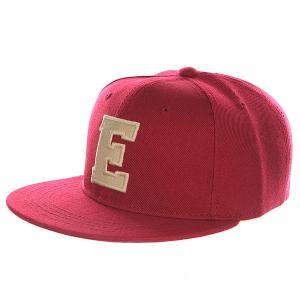 Бейсболка с прямым козырьком Truespin Abc Bordo E. Цвет: бордовый