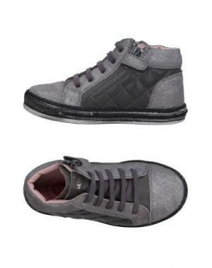 Высокие кеды и кроссовки GARVALIN. Цвет: серый