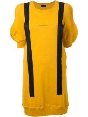 Платье шифт с контрастными лямками Undercover. Цвет: жёлтый и оранжевый