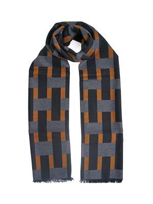 Мужской шарф LANYINGDI ША-32 30*180 100% шелк. Цвет: серый, коричневый, рыжий