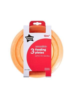 Набор плоских тарелочек для начала кормления TOMMEE TIPPEE. Цвет: оранжевый