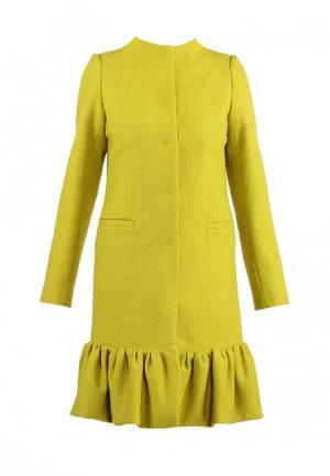 Пальто Anastasya Barsukova. Цвет: желтый