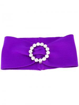 Buckled headband Alessandra Rich. Цвет: розовый и фиолетовый