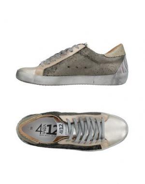 Низкие кеды и кроссовки QUATTROBARRADODICI. Цвет: платиновый