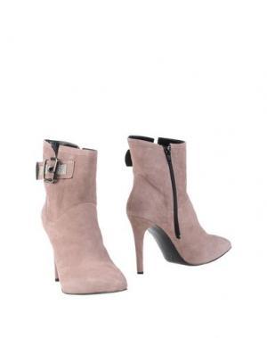 Полусапоги и высокие ботинки EMANUELA PASSERI. Цвет: пастельно-розовый