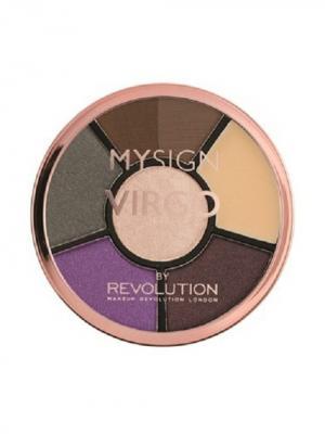 Палетка для макияжа глаз Complete Eye Base Virgo MakeUp Revolution. Цвет: серый, коричневый, сиреневый