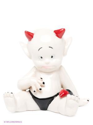Фигурка Чертик-октябрь Pavone. Цвет: белый, черный, красный