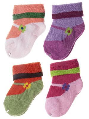Набор носочков Pretty Mania. Цвет: розовый, зеленый, фиолетовый