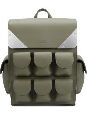 Маленький рюкзак с несколькими отделениями Valas. Цвет: зелёный
