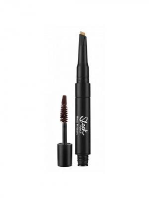 Гель для бровей и хайлайтер Brow Intencity 217 Dark Sleek MakeUp. Цвет: коричневый