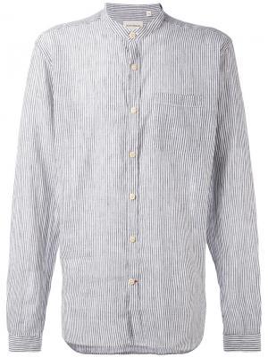 Рубашка в полоску Oliver Spencer. Цвет: синий