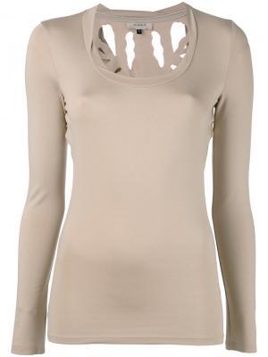 Блузка Torn Murmur. Цвет: телесный