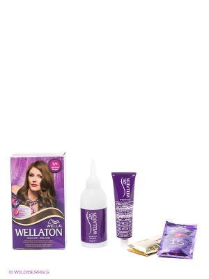 Крем-краска для волос 7/1 Пепельный блондин WELLATON. Цвет: фиолетовый