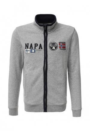 Олимпийка Napapijri. Цвет: серый