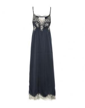 Длинное платье PINK MEMORIES. Цвет: темно-синий