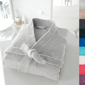 Халат с воротником кимоно именной вышивкой, 350 г/м² SCENARIO. Цвет: белый,голубой бирюзовый,гренадин,серо-бежевый,темно-серый,фиолетовый,черный