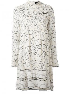 Платье со шнуровкой Proenza Schouler. Цвет: телесный