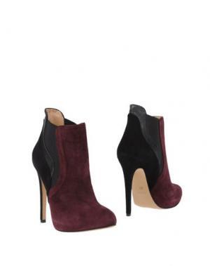 Полусапоги и высокие ботинки OVYE' by CRISTINA LUCCHI. Цвет: красно-коричневый