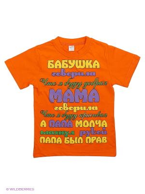 Футболка Bonito kids. Цвет: оранжевый