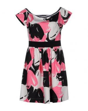 Короткое платье LORELLA SIGNORINO. Цвет: светло-фиолетовый