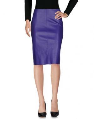 Юбка до колена JITROIS. Цвет: фиолетовый