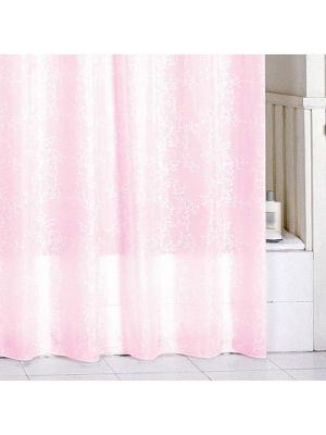 Штора для ванной Milardo. Цвет: розовый