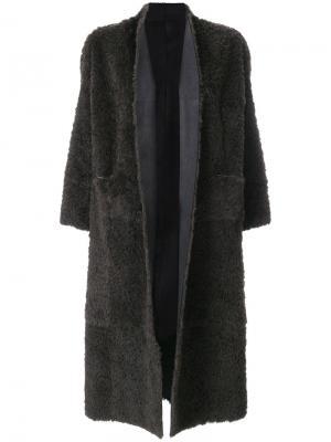 Свободное пальто с укороченными рукавами Salvatore Santoro. Цвет: коричневый