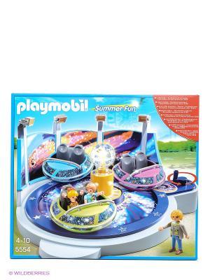 Парк Развлечений Аттракцион Звездолет с огнями Playmobil. Цвет: голубой