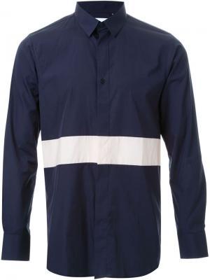 Рубашка с контрастной полоской Matthew Miller. Цвет: синий