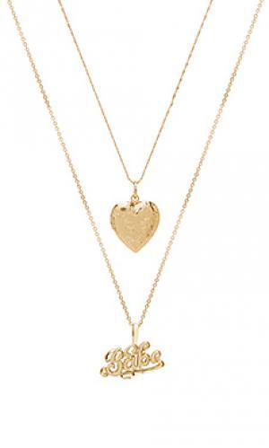 Ожерелье babe Vanessa Mooney. Цвет: металлический золотой