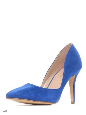 Туфли Amazonga. Цвет: синий