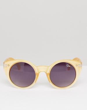 Quay Australia Солнцезащитные очки кошачий глаз Aimshi. Цвет: золотой
