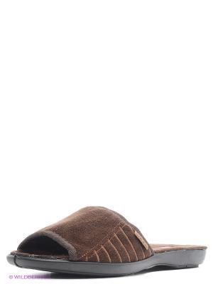 Тапочки Marko. Цвет: коричневый