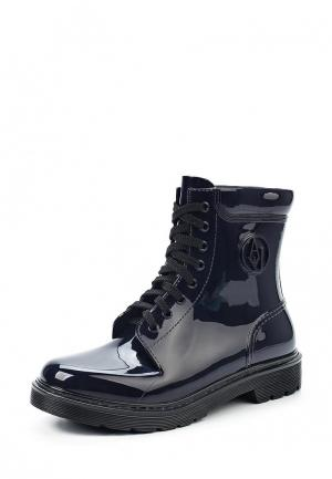 Резиновые ботинки Armani Jeans. Цвет: синий