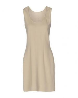 Короткое платье NEERA. Цвет: бежевый