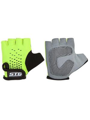 Велоперчатки STG. Цвет: зеленый