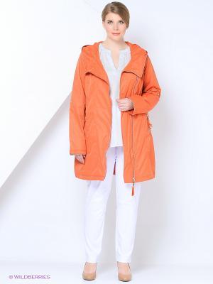 Куртка COLD WIND IS MIRAGE. Цвет: коралловый
