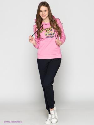 Спортивный костюм Runika. Цвет: черный, розовый