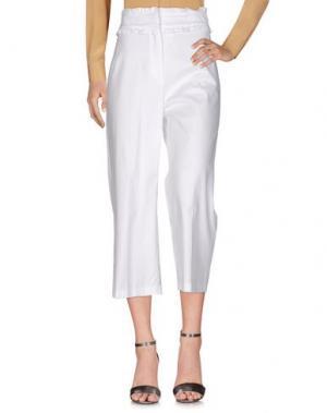 Повседневные брюки TENAX. Цвет: белый