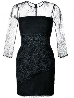 Облегающее кружевное платье Three Floor. Цвет: чёрный